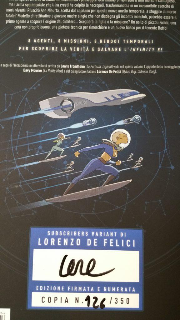 Infinity 8 Volume #5 - edizione limitata e firmata per chi ha prenotato il pack!