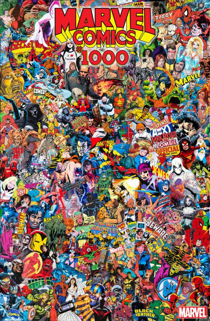 MARVEL COMICS #1000 GARCIN COLLAGE VAR