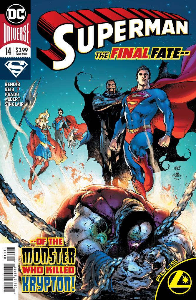 New main cover to SUPERMAN #14 by Ivan Reis and Joe Prado